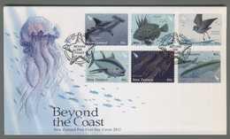 C4531 NEW ZEALAND FDC 2011 ANIMAL FISH BEYOND THE COAST - FDC