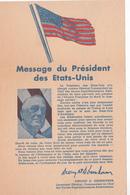 Message Du Président Des Etats-Unis  - Ce Tract Fut Lancé Par Avion 8/11/1942  - RV - 1939-45