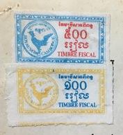 Cambodge Cambodia Document 1988 With Revenue Stamps / 02 Photo - Cambodge