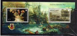 GIBRALTAR GIBILTERRA + ISLE OF MAN 2005 HORATIO VISCOUNT NELSON BRITISH ADMIRAL BLOCK SHEET BLOCCO FOGLIETTO BLOC MNH - Gibilterra
