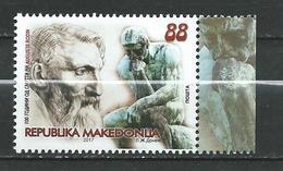 MACEDONIA 2017. 100 Ann. AUGUSTE RODIN.ART Of FRANCE.MNH - Macedonia