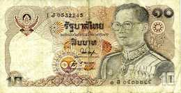 THAILANDE - 10 Bath (1980) ? - Série 1 J 0532245 - P.87 ? - Thaïlande