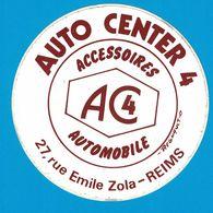 AUTOCOLLANT AUTO CENTER 4 ACCESSOIRES AC4 AUTOMOBILE 27 RUE EMILE ROLA REIMS - Autocollants