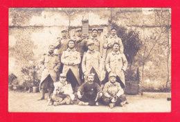 Milit-919A104  Carte Photo, Groupe De Militaires, Col 409, Souvenir Du Départ De Chinon, Cpa - Militaria