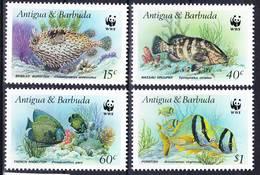 Antigua 1987 WWF Complete Set Fishes Mi 1010-1013 MNH **, I Sell My Collection! - Antigua Et Barbuda (1981-...)