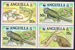 Anguilla 1997 WWF Complete Set Iguana Delicatissima Mi 988-991 Bo4 MNH **, I Sell My Collection! - Anguilla (1968-...)