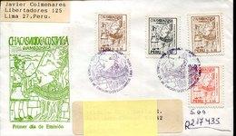 43910 Peru, Fdc Circuled 1994 El Puente De Huaman Poma, - Pérou
