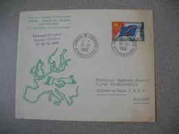 Lettre 1966 Cercle D'Etudes Philatéliques Europa - Conseil De L'Europe De Strasbourg Pour Aulnay - Storia Postale