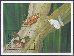 Grenada Grenadinen Grenadines 1991 Tiere Fauna Animals Schmetterlinge Butterflies Papillion Mariposa Farfalle, Bl. 213** - Grenada (1974-...)
