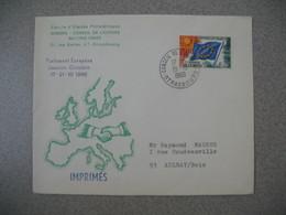 Lettre 1966 Cercle D'Etudes Philatéliques Europa - Conseil De L'Europe De Strasbourg Pour Aulnay - Marcofilia (sobres)
