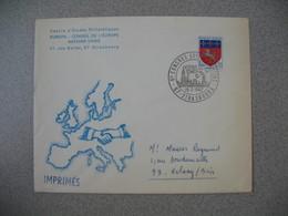 Lettre 1967 Cercle D'Etudes Philatéliques 6 è Congrès Eur Des Loisirs - Conseil De L'Europe De Strasbourg Pour Aulnay - Storia Postale