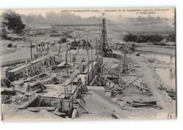 CPA 10 Précy St Martin Chantiers De La Coopérative Agricole D'Electricité 7 Juillet 1921 - Autres Communes