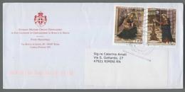 C4543 SMOM Storia Postale 2015 PINTURICCHIO ANNUNCIAZIONE 0.70 1.75 - Sovrano Militare Ordine Di Malta