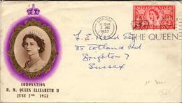 GREAT BRITAIN 279 (o) 1953 Coronation Of Elizabeth II London Londres 3 Juin Juni - Postmark Collection