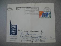 Lettre 1966 Conseil De L'Europe Conférence Démographique Européenne De Strasbourg RP Bas-Rhin Pour Ascona Suisse - Storia Postale