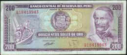 PERU - 200 Soles De Oro  16.05.1974 Fine+ P.103 B - Pérou