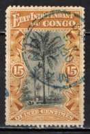 CONGO BELGA - 1896 - PALME DA OLIO - USATO - Congo Belga