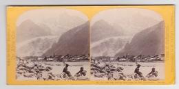 Stereoscopische Kaart.    SAVOIE    Glacier Des  Bois Et AIGUILLES  Du Dru Chamonix - Cartes Stéréoscopiques