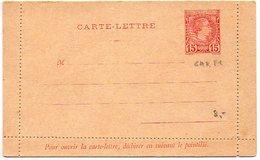 Monaco, Entier Postal : CL 15c Rouge Charles - Postal Stationery