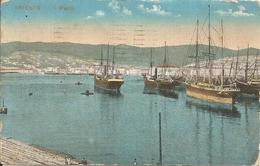 TRIESTE - IL PORTO - FORMATO PICCOLO - VIAGGIATA 1923 - (rif. H06) - Trieste