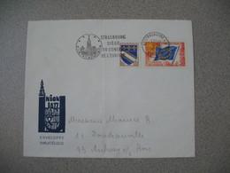 Lettre 1969 Strasbourg Siège Du Conseil De L'Europe De Strasbourg RP Bas-Rhin Pour Aulnay - Storia Postale