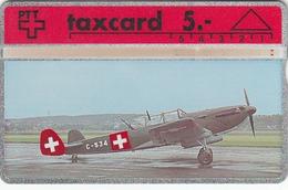 SWITZERLAND - Fliegermuseum Dübendorf Kampfflugzeug C 3603 (Airplane) ,06/91 ,CN:106D ,Tirage 1.000, 5 Fr, Used - Suisse