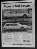 ORIGINAL 1976 MAGAZINE ADVERT FOR CITROEN CX2200D ESTATE CAR - Autres