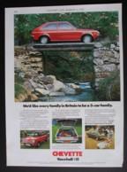 ORIGINAL 1976 MAGAZINE ADVERT FOR VAUXHALL CHEVETTE MOTOR CARS - Advertising