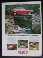 ORIGINAL 1976 MAGAZINE ADVERT FOR VAUXHALL CHEVETTE MOTOR CARS - Autres