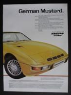 ORIGINAL 1979 MAGAZINE ADVERT FOR PORCHE 924 TURBO MOTOR CARS - Advertising