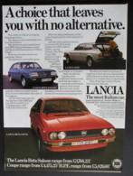 ORIGINAL 1979 MAGAZINE ADVERT FOR LANCIA MOTOR CARS - Advertising