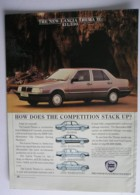 ORIGINAL 1986 MAGAZINE ADVERT FOR LANCIA THEMA IE MOTOR CARS - Other