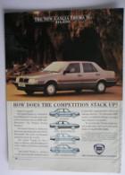 ORIGINAL 1986 MAGAZINE ADVERT FOR LANCIA THEMA IE MOTOR CARS - Advertising