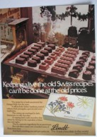 ORIGINAL 1979 MAGAZINE ADVERT FOR LINDT CHOCOLATES - Advertising