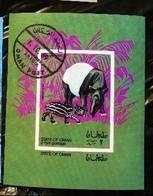 Oman Fauna Anteater Animal Souvenir Sheet Block Cancelled WYSIWYG A04s - Oman