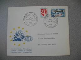 Lettre 1969 Cercle Etudes Philatéliques Conseil De L'Europe Congrès Franco-Allemand D'Esperanto  -Strasbourg Pour Aulnay - Storia Postale