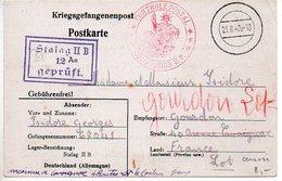 Carte De Prisonnier Du 23.8.40 Du Stalag IIB - Censure Française COMMISSION U.P. - Marcophilie (Lettres)