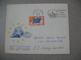 Lettre 1970 Cercle Etudes Philatéliques Conseil De L'Europe  Strasbourg RP Bas Rhin Pour Aulnay - Storia Postale