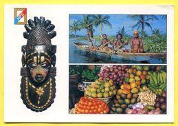TOGO  - Vendeuses Se Rendant Au Marché Aux Fruits - Masque ACHANTI. Seins Nues , Nude .Hazoume - Togo