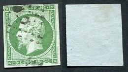 France Classique, N°12 Oblitéré, Qualité Beau++ - 1853-1860 Napoleon III