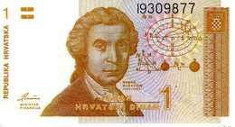 Croatie - 1 Dinara ND(08-10-1991) - Série  I9309877 -P.16a - UNC - Croatie