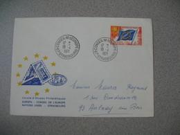 Lettre 1971 Cercle Etudes Philatéliques Conseil De L'Europe  Strasbourg RP Bas Rhin Pour Aulnay - Storia Postale