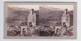 Stereoscopische Kaart.   ITALIE. Vue Du Mont Cénis - Cartes Stéréoscopiques