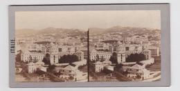 Stereoscopische Kaart.   ITALIE. Panorama De Gènes - Cartes Stéréoscopiques