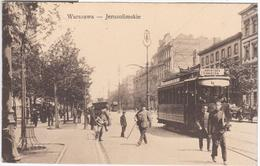 Poland Polska 1917 Warszawa Warschau, Aleje Jerozolimskie, Tram Tramway - Pologne