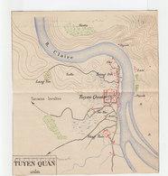 Plan De La Forteresse De Tuyen Quan, Indochine. Février 1885. Héliogravé Au Dépôt De La Guerre. (2035x) - Documenti Storici