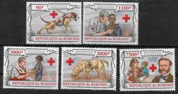 BURUNDI    N° 2002/05 BF 340 * * ( Cote 16e ) Dunant Croix Rouge Chiens - Henry Dunant