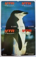 CHILE - Prepaid VTR - $3,000 - Puzzle Set Of 4 - Penguin - Mint - Chile