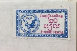 Cambodge Cambodia Document With Revenue Stamp / 02 Photo - Cambodge