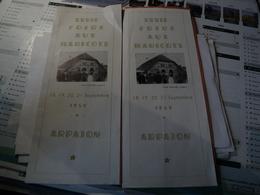 DEPLIANT XXVII° FOIRE AUX HARICOTS D ARPAJON. 1959 QUELQUES PHOTOS ET PUBLICITES D EPOQUE. - Alimentaire